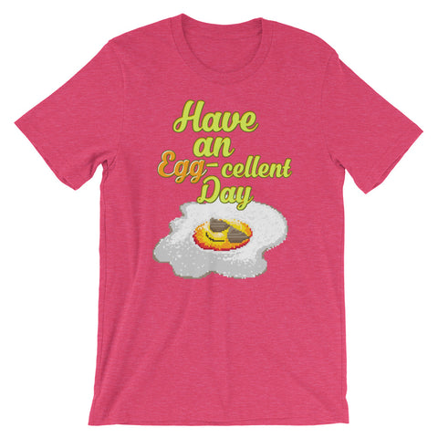 Image of Retro Have an Egg-cellent day Short-Sleeve Unisex T-Shirt
