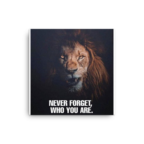 Image of Never Forget Who You Are Canvas - CalvinMade