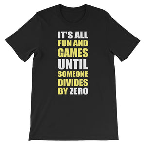 Divide by Zero Unisex short sleeve t-shirt - CalvinMade
