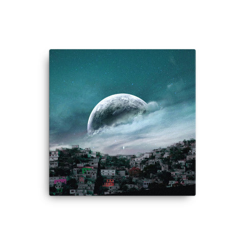 City Moon Canvas