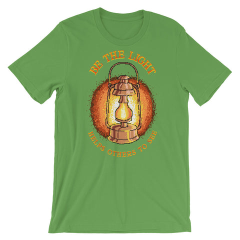 Image of Retro Be the Light Help others to see Short-Sleeve Unisex T-Shirt