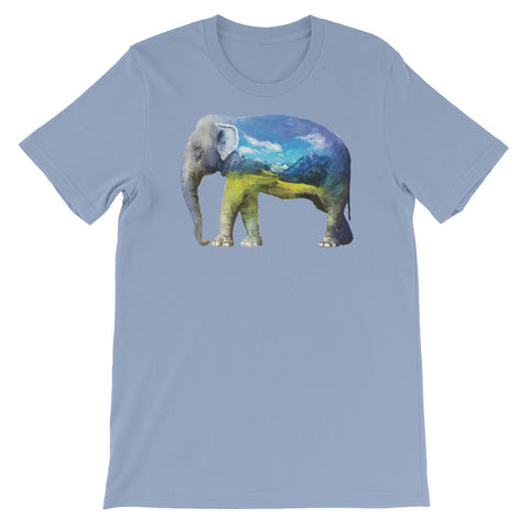 Image of Double Exposed Elephant Unisex short sleeve t-shirt - CalvinMade