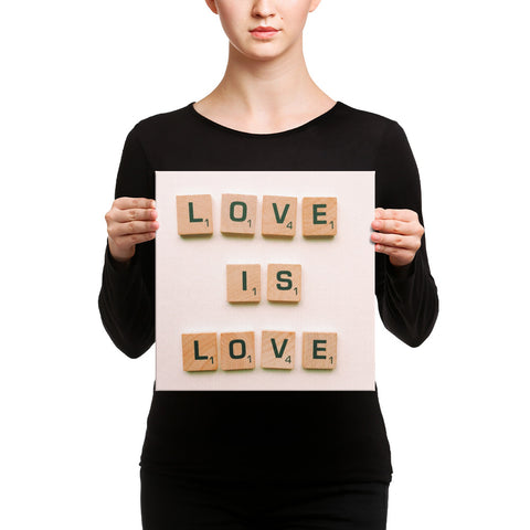 Image of Love is Love Canvas - CalvinMade