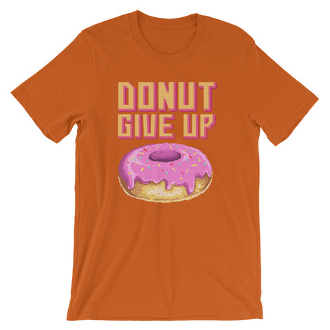 Image of Retro Donut Give up Short-Sleeve Unisex T-Shirt