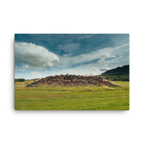 Image of Wood Pile Canvas - CalvinMade