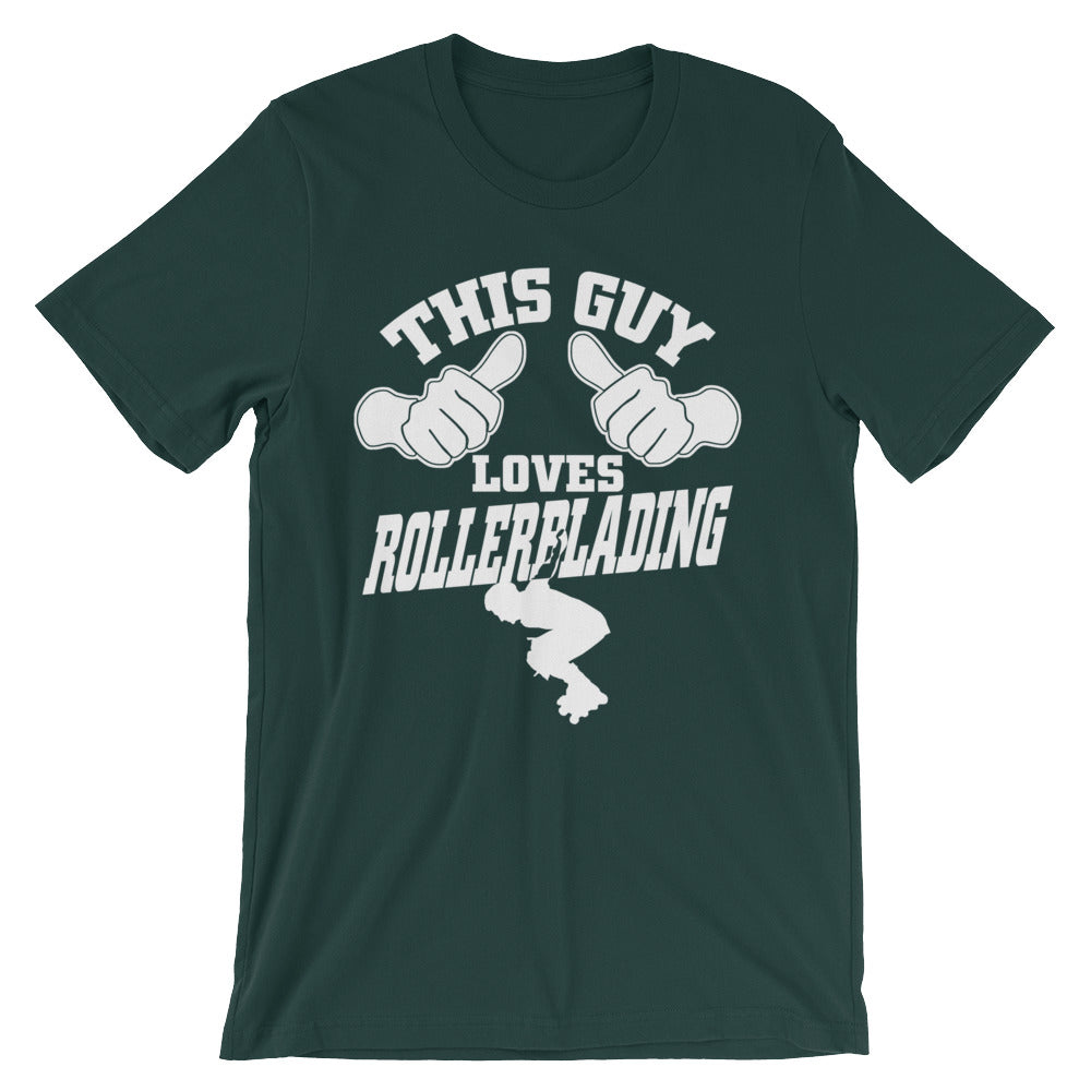 This Guy Loves Rollerblading Unisex short sleeve t-shirt - CalvinMade