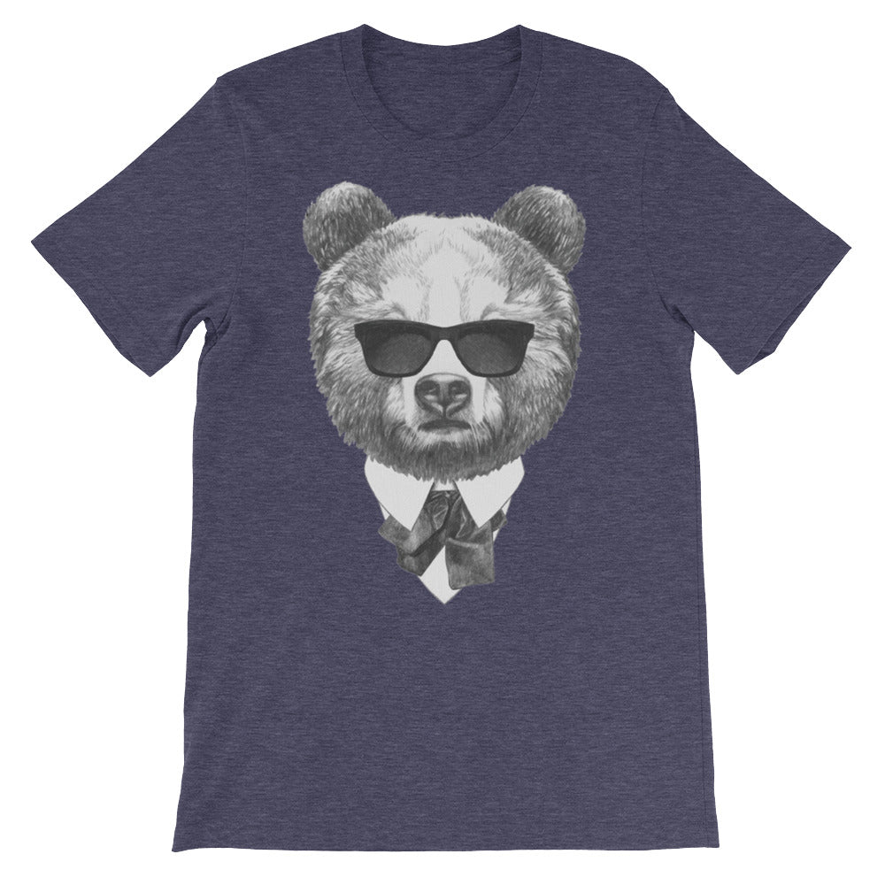 Blues Bear Unisex short sleeve t-shirt - CalvinMade