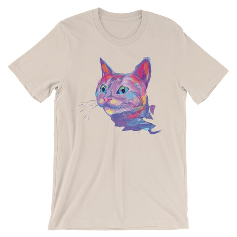 Image of Eclectic cat Unisex short sleeve t-shirt - CalvinMade