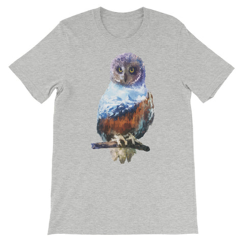 Image of Double Exposed Owl Unisex short sleeve t-shirt - CalvinMade