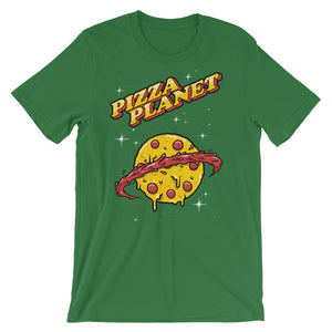 Planet Pizza Unisex short sleeve t-shirt - CalvinMade