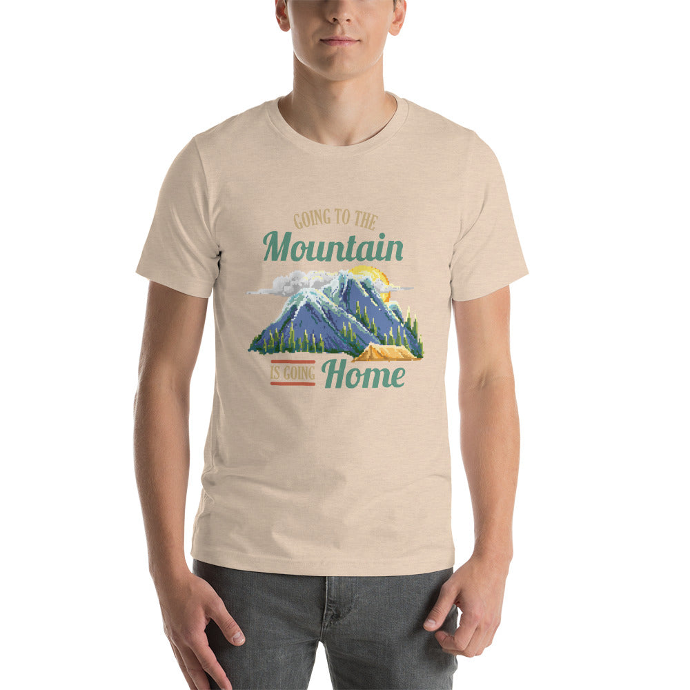 Retro Going to the Mountains is Going Home Short-Sleeve Unisex T-Shirt