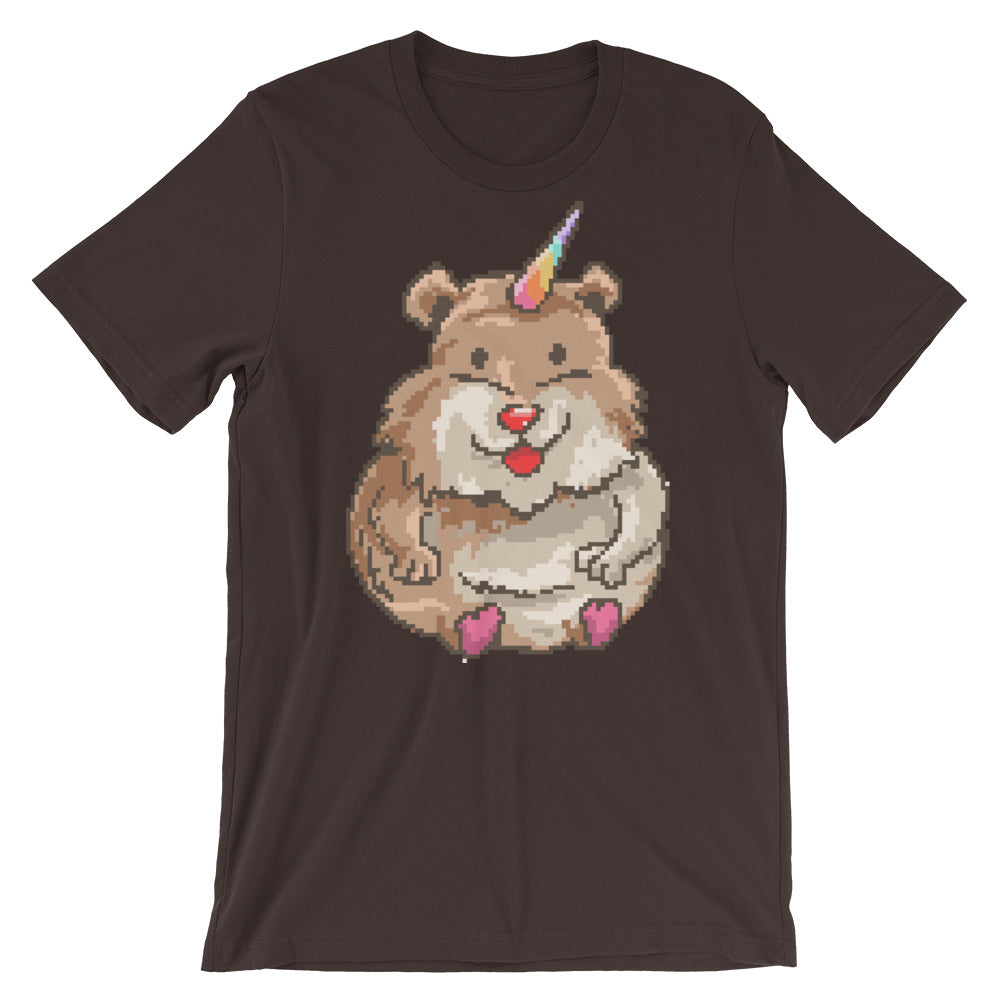 Retro Hampster Unicorn Short-Sleeve Unisex T-Shirt