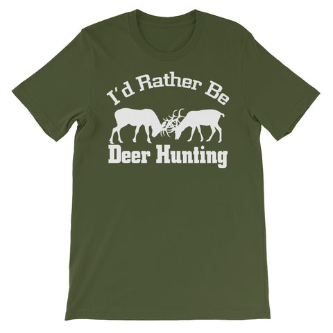 Image of I'd Rather be Deer Hunting Unisex short sleeve t-shirt - CalvinMade