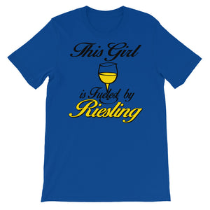 This Girl is fueled by Reisling Unisex short sleeve t-shirt - CalvinMade