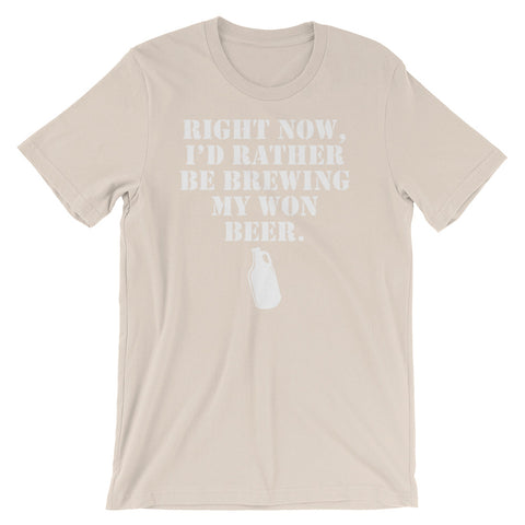 Image of I'd Rather Be Unisex short sleeve t-shirt - CalvinMade