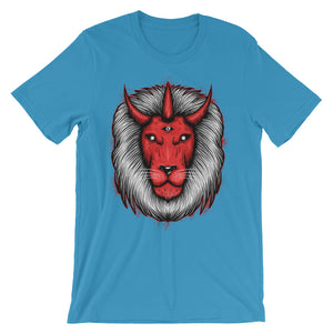 Devil Lion Unisex short sleeve t-shirt - CalvinMade