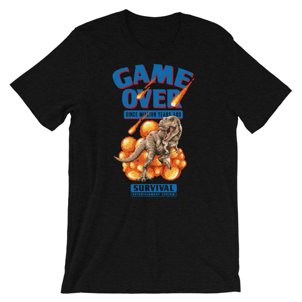 Retro Dino Game Over Short-Sleeve Unisex T-Shirt