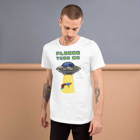Image of Retro Abduction Short-Sleeve Unisex T-Shirt