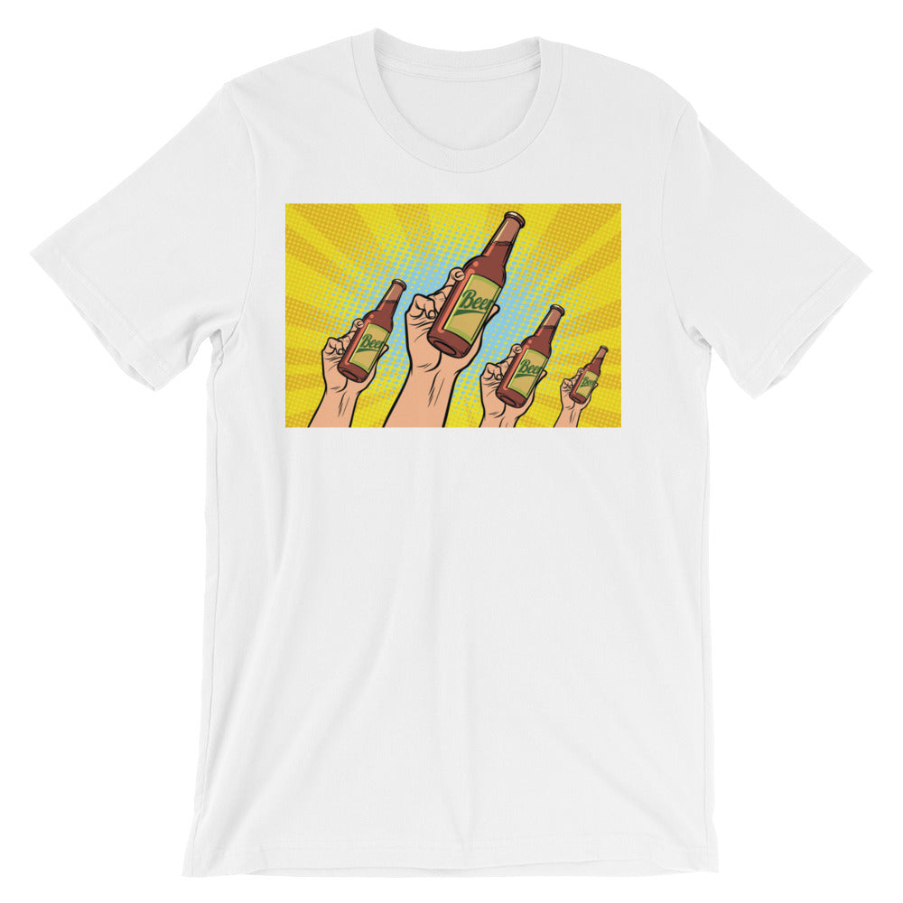 Cheers Unisex short sleeve t-shirt - CalvinMade