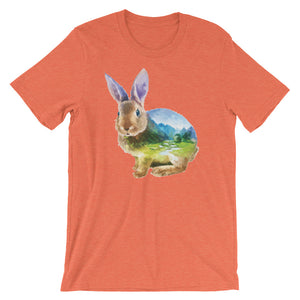 Double Exposed Rabbit Unisex short sleeve t-shirt - CalvinMade