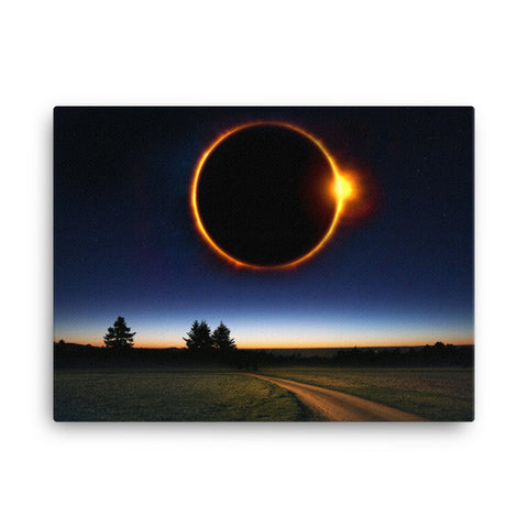 Image of Solar Eclipse Canvas