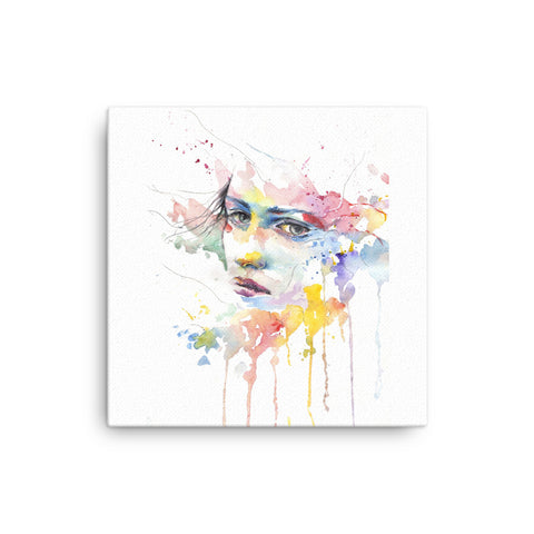 Image of Colorful Girl Canvas