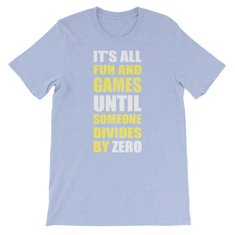 Image of Divide by Zero Unisex short sleeve t-shirt - CalvinMade