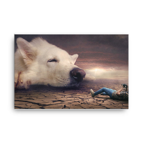 Image of Boy who Cried Wolf Canvas
