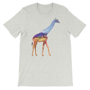 Double Exposed Giraffe Unisex short sleeve t-shirt - CalvinMade