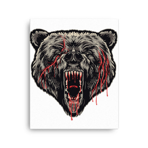Image of Bear Attack Canvas