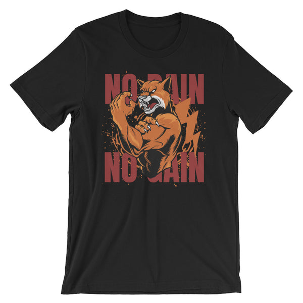 No Pain No Gain Short-Sleeve Unisex T-Shirt - CalvinMade
