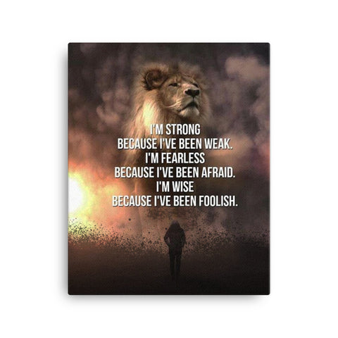Image of Lion Strength Canvas - CalvinMade