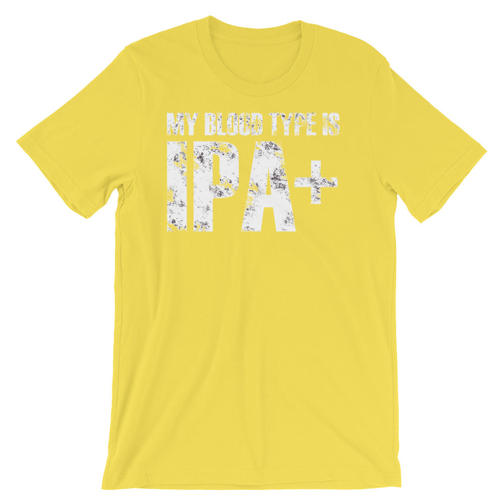 Blood Type IPA Unisex short sleeve t-shirt - CalvinMade