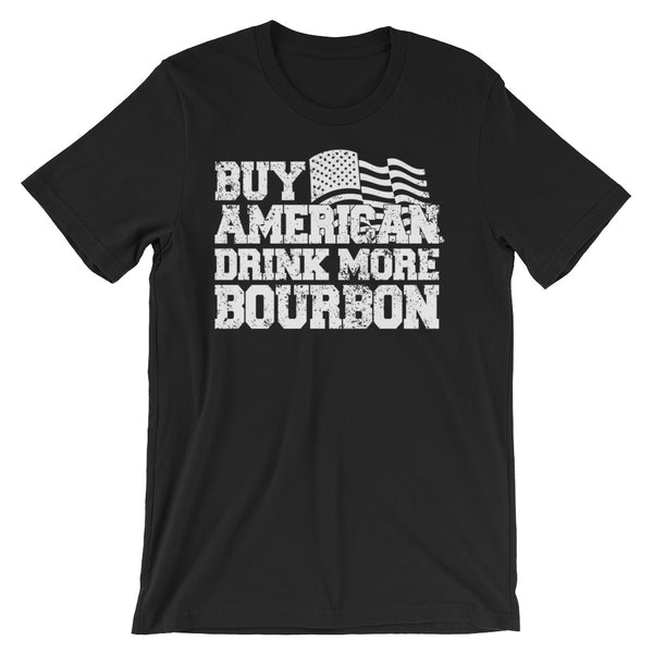 Buy American Drink more Bourbon Unisex short sleeve t-shirt