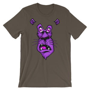 Shocked Lion Unisex short sleeve t-shirt - CalvinMade