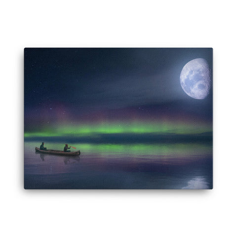 Canoe Moon Canvas