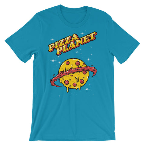 Image of Planet Pizza Unisex short sleeve t-shirt - CalvinMade