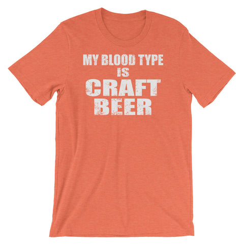 Image of My Blood Type is Craft Beer Unisex short sleeve t-shirt - CalvinMade