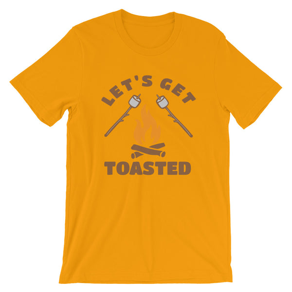 Lets Get Toasted Short-Sleeve Unisex T-Shirt - CalvinMade