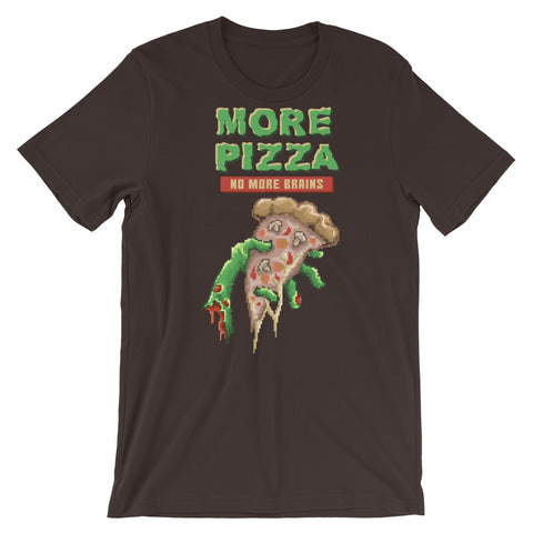 Image of Retro Zombie Pizza : No more brains Short-Sleeve Unisex T-Shirt