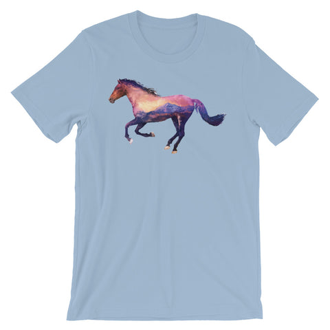 Image of Double Exposed Horse Unisex short sleeve t-shirt - CalvinMade