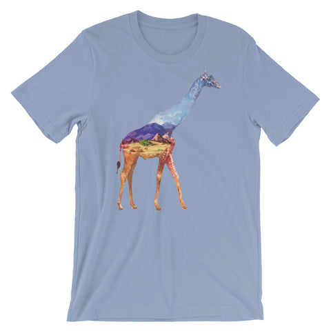 Image of Double Exposed Giraffe Unisex short sleeve t-shirt - CalvinMade