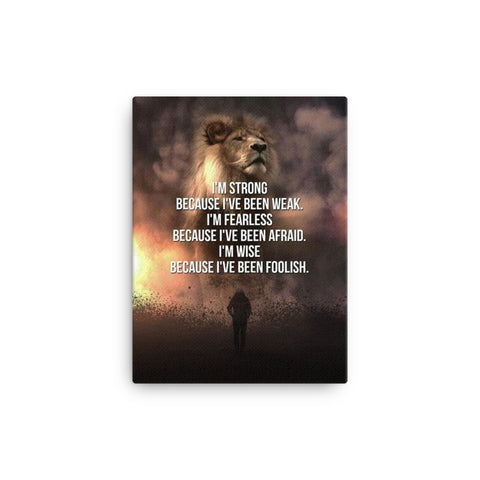 Lion Strength Canvas - CalvinMade