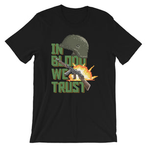 Retro In Blood We Trust Short-Sleeve Unisex T-Shirt