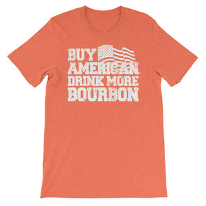 Buy American Drink more Bourbon Unisex short sleeve t-shirt - CalvinMade