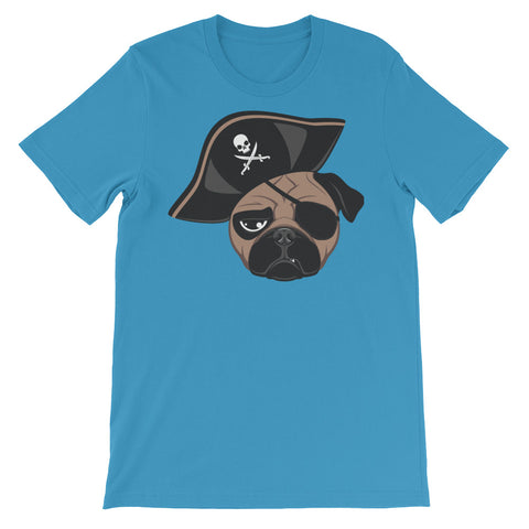 Image of Pirate Pug Unisex short sleeve t-shirt - CalvinMade
