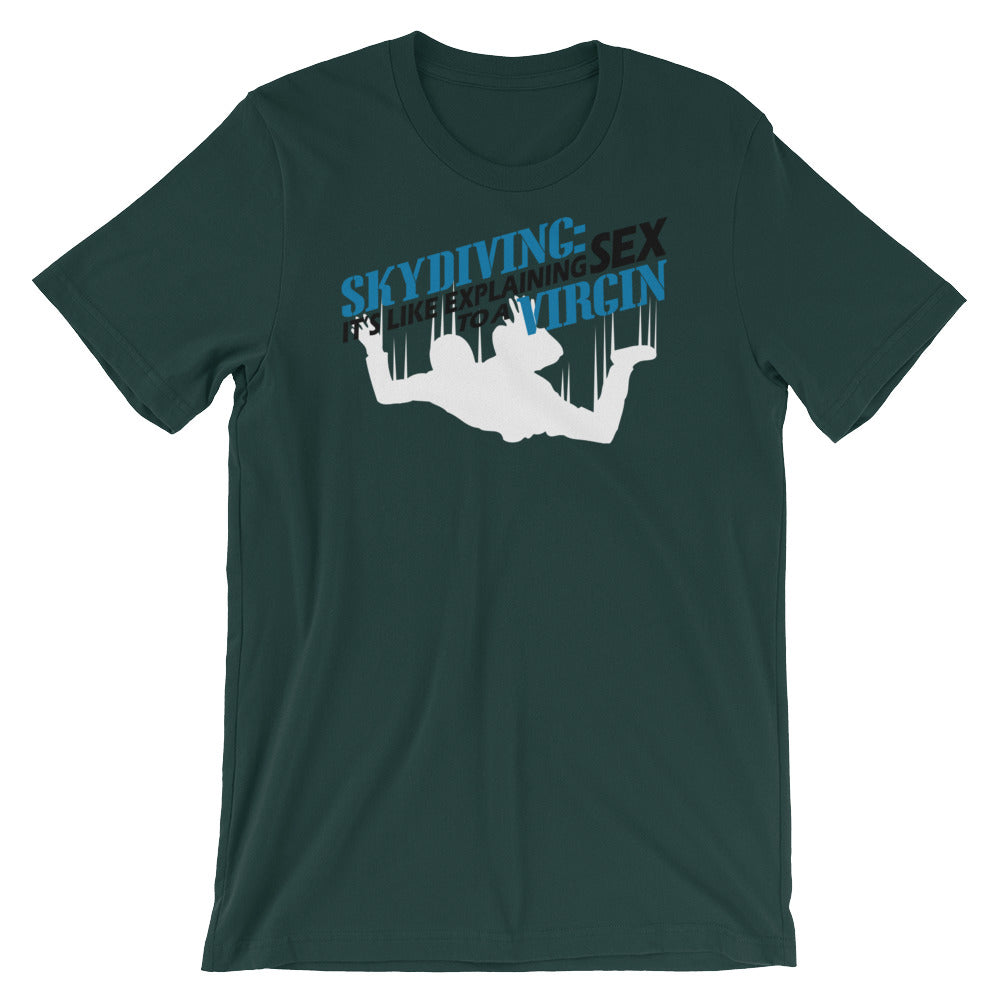Skydiving Unisex short sleeve t-shirt - CalvinMade