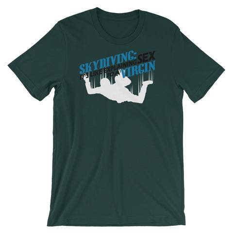 Image of Skydiving Unisex short sleeve t-shirt - CalvinMade
