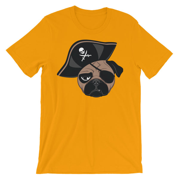 Pirate Pug Unisex short sleeve t-shirt