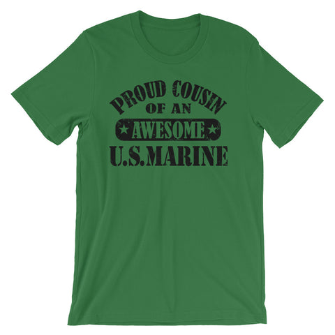Image of Proud Cousin of an Awesome US Marine Unisex short sleeve t-shirt - CalvinMade
